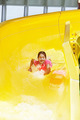 Young girl in water slide - PhotoDune Item for Sale