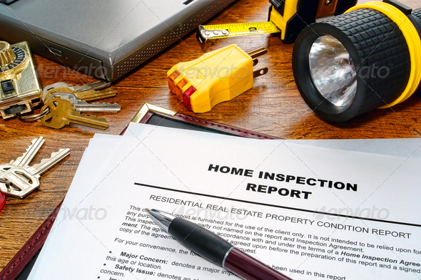 Real Estate Home Inspection Report - Stock Photo - Images