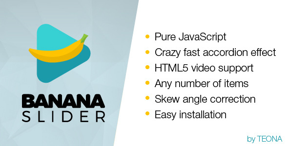 BananaSlider JS Fast Accordion HTML5 Video Slider (Sliders) images