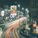 City Traffic By Night Time Lapse