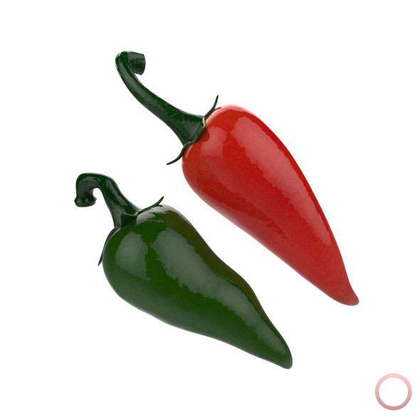 Red and Green Chili Peppers - 3DOcean Item for Sale
