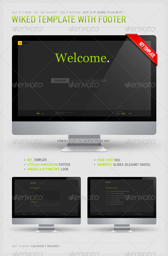 Wiked Keynote Template - Business Keynote Templates