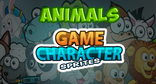 Animals Game Character Sprites
