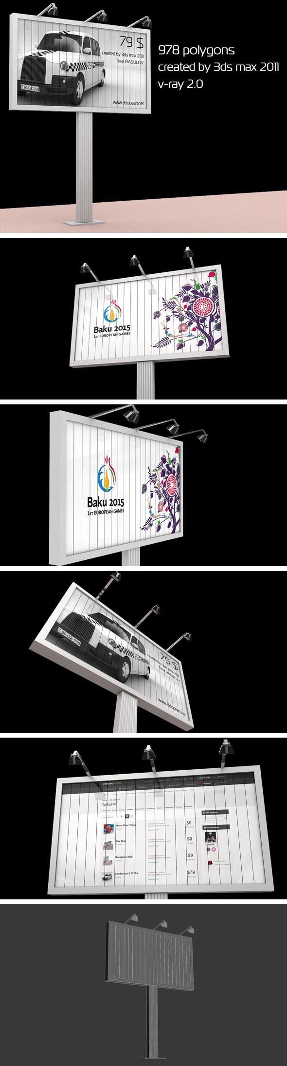 Billboard - 3DOcean Item for Sale