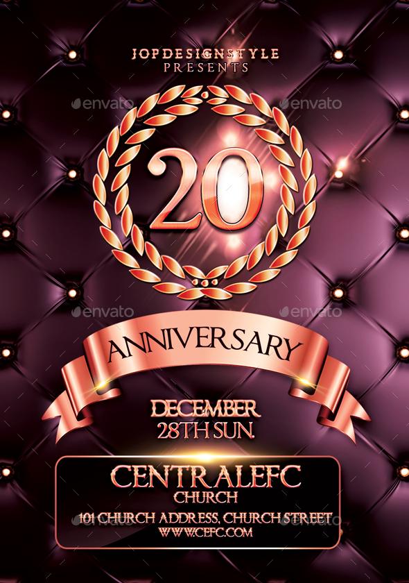 Church Anniversary FlyerPoster by JOPdesignstyle – Anniversary Flyer