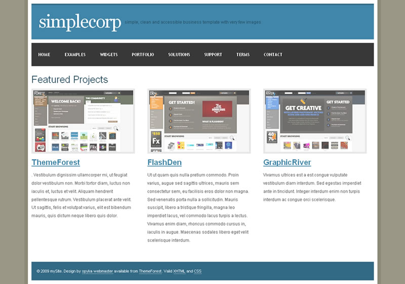 SimpleCorp - The Portfolio layout allows you to showcase your work, products or even staff