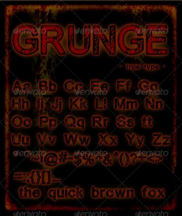 GraphicRiver Grunge Font 163139
