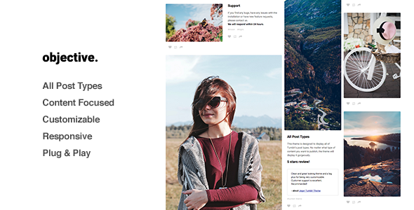 Objective - Grid, Responsive Portfolio, Tumblr Theme