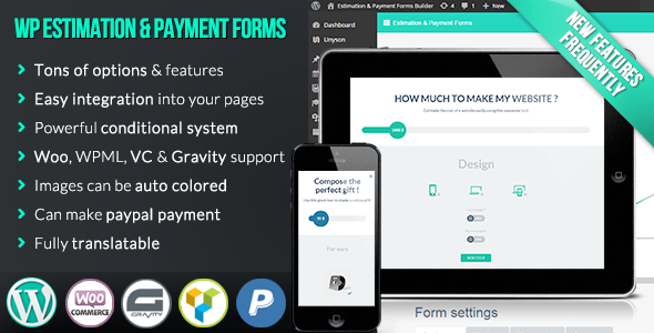 CodeCanyon WP Estimation & Payment Forms Builder v9.3.2