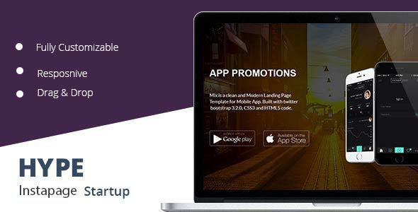 Download Hype Startup Instapage Landing Page nulled download