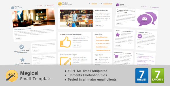 Download Magical Email Template nulled download