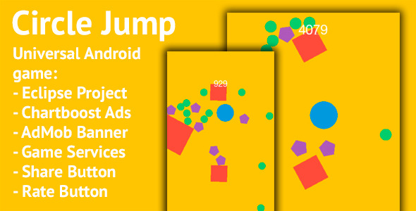 Circle Jump - Android Universal Game - CodeCanyon Item for Sale