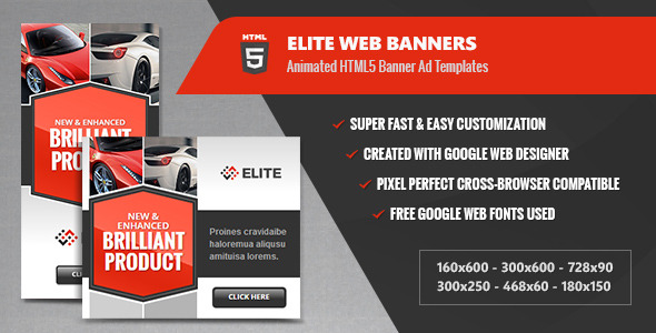 Elite Web Banners - Multipurpose Animated HTML5