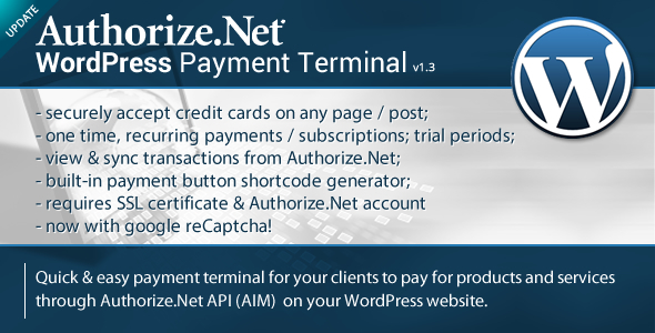 Download Authorize.Net Payment Terminal WordPress nulled download