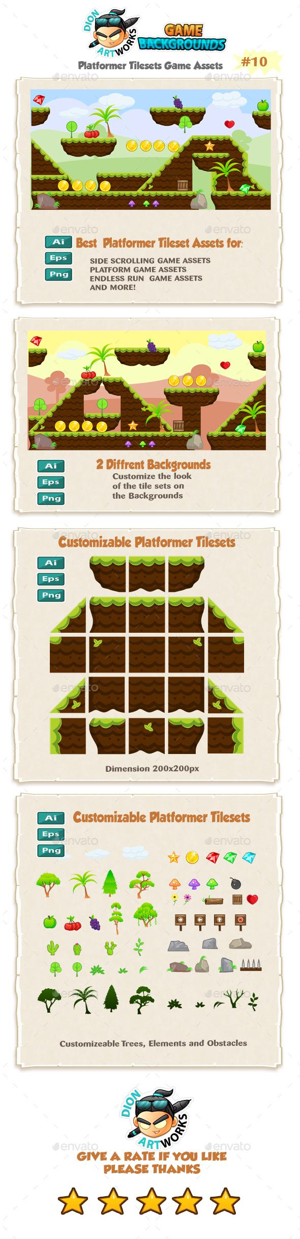 Platformer Game Tilesets 10