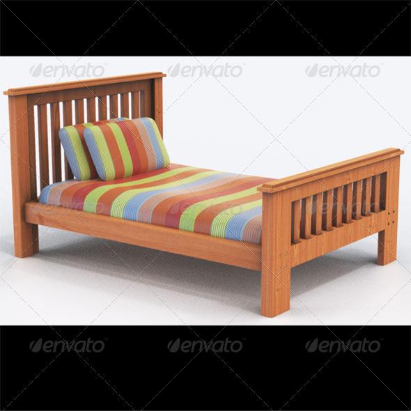 3DOcean Bounty king single bed 163215