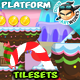 Candy World Platformer Game Tilesets 13