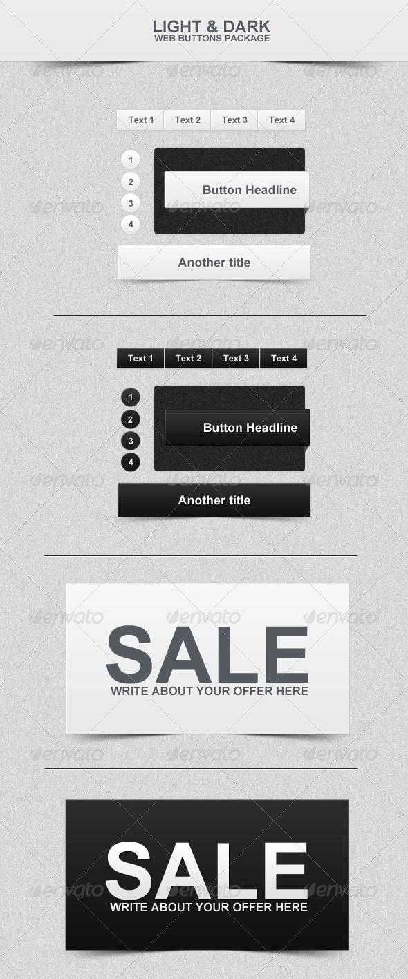 Dark & Light Web Buttons