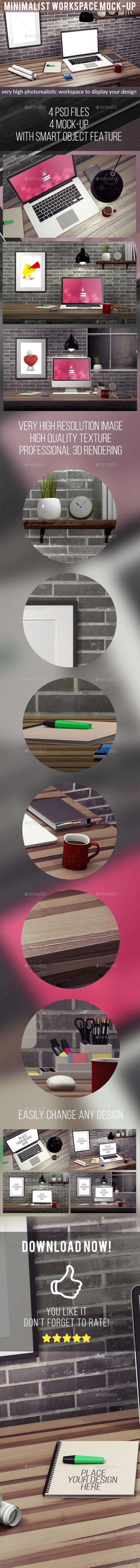 Minimalist Workspace Mock-Up (Displays)