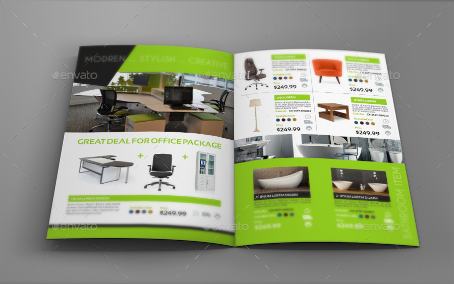 Furniture Products Catalog BiFold Brochure by OWPictures – Product Brochure Template