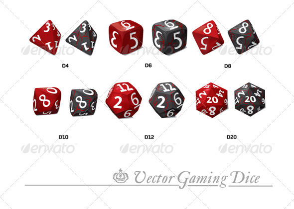 Graphic River Vector Gaming Dice Vectors -  Objects  Man-made objects 163148
