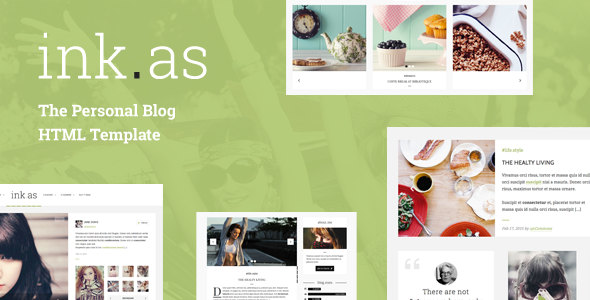 24. Inkas - The Personal Blog HTML Template