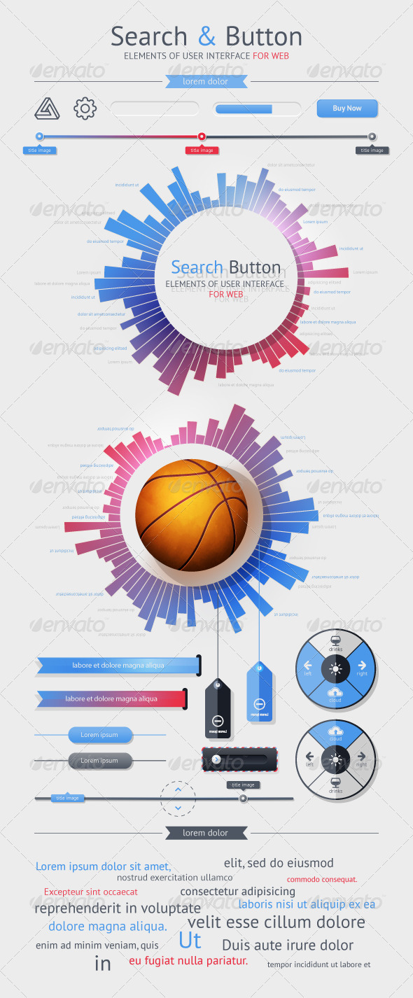 GraphicRiver Elements of User Interface for Web 1366450