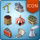Isometric Map Icons - Buildings and Industry