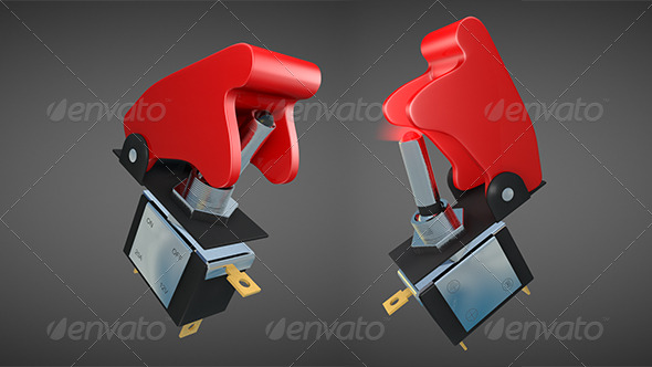 Toggle Switch with Flip-up Safety Cover