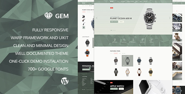 Download Gem — Luxury eCommerce Responsive WordPress Theme nulled download