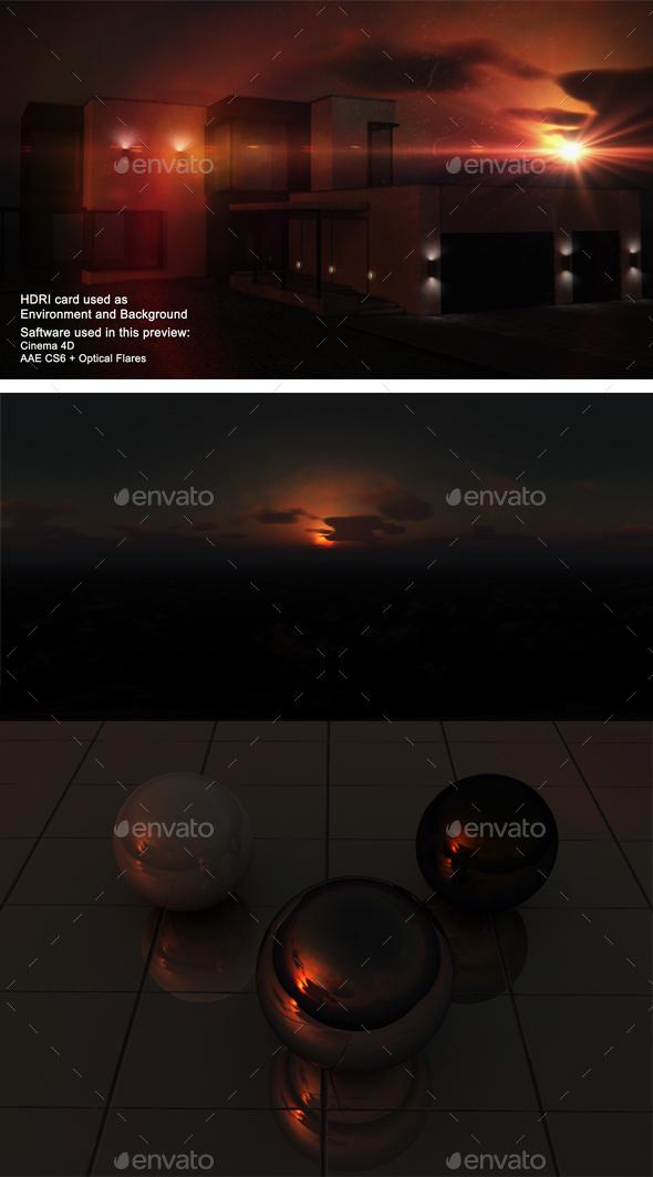 Sunset Desert 33 - 3DOcean Item for Sale