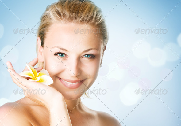 Spa Girl's Face - Stock Photo - Images