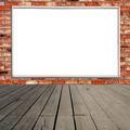 Blank billboard on brick wall - PhotoDune Item for Sale