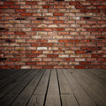 Brick wall and wooden planks - PhotoDune Item for Sale