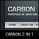 Carbon One Page Portfolio - ThemeForest Item for Sale