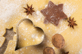 Christmas baking, cookies, rolling pin, anise, walnuts,
