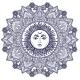 Sun Mandala Round Ornament Illustration