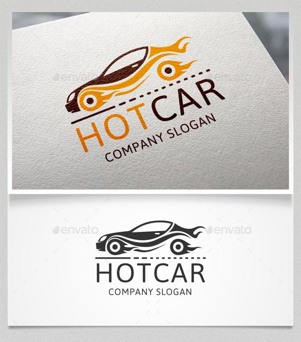 Hot Car Logo Template