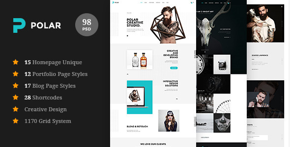 Polar - Responsive Multi-Purpose PSD Template