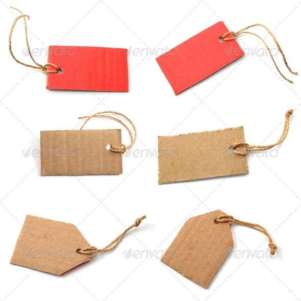 blank price tag collection - Stock Photo - Images