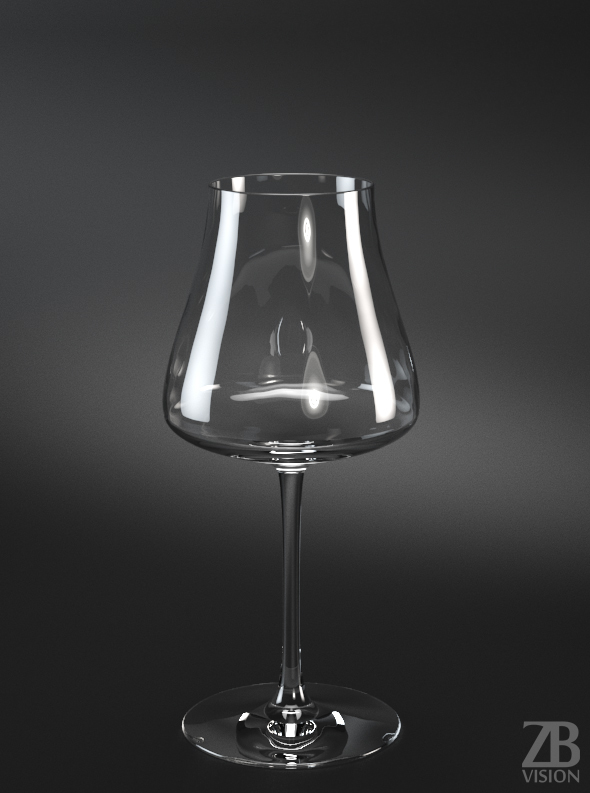 Chardonnay Red Wine Glass - 3DOcean Item for Sale