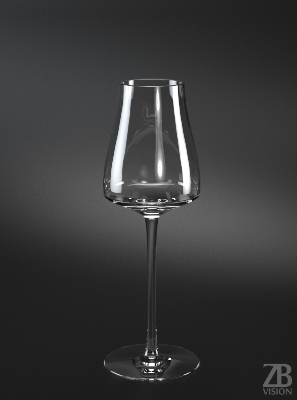 Riesling White Wine Glass - 3DOcean Item for Sale