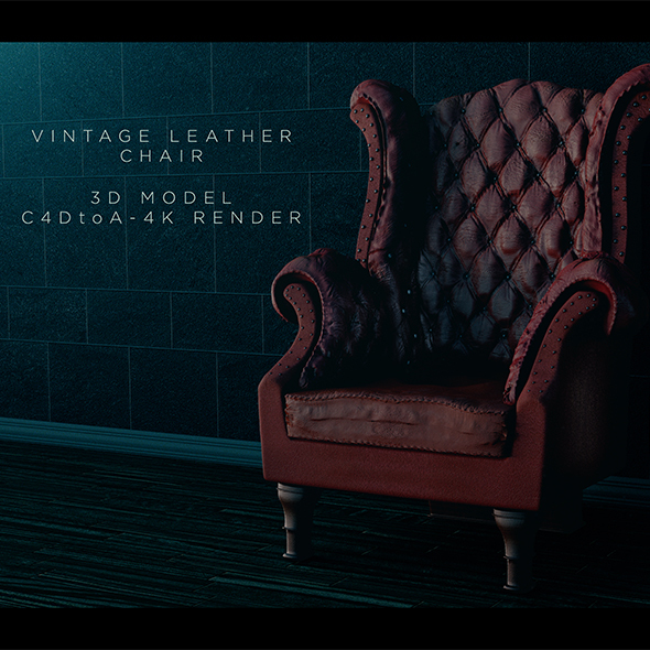 Vintage Leather Chair - 3DOcean Item for Sale