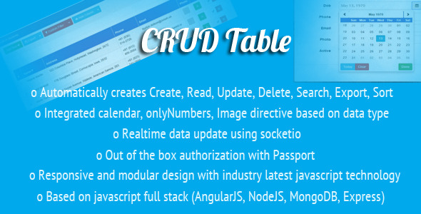 AngularJS CRUD Table Directive