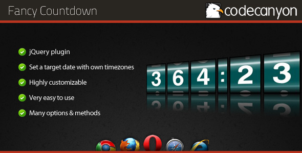 Fancy Countdown jQuery plugin