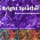 Bright Splatter Watercolor Backgrounds