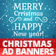 Christmas banners set + Greeting card 500px*500px - CodeCanyon Item for Sale