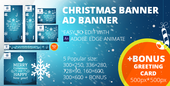 CodeCanyon Christmas banners set & Greeting card 500px*500px 13681045