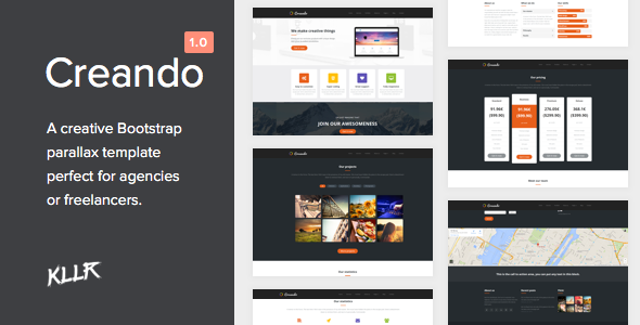 Creando - Creative Onepage Parallax HTML Template