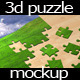 3D Jigsaw Puzzle Mockup - GraphicRiver Item for Sale
